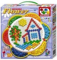 Фото Мозаика для детей Цветок 280 дет, 10мм (00-162)