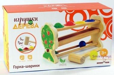 Деревянная игрушка стучалка Горка-шарики (мал) Д003 фотография 4