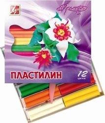Фото Пластилин Премиум восковой 12 цветов