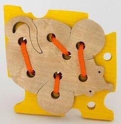 Фото Шнуровка деревянная Сыр и мышка