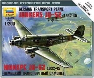 """Фото Сборная модель Немецкий самолет """"Юнкерс Ю-52"""" (6139)"""