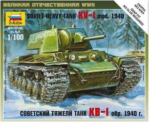 """Фото Сборная модель Советский танк """"КВ"""" (6141)"""
