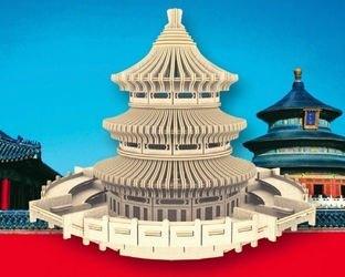 Фото Сборная деревянная модель Храм неба (П075)
