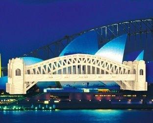 Фото Сборная деревянная модель Сиднейский мост (П079)