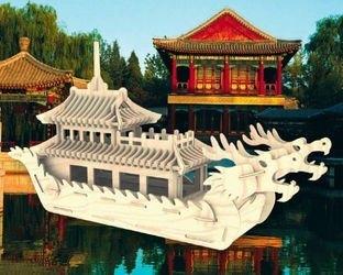 Фото Сборная деревянная модель Лодка Дракона большая (П085)