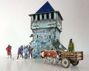 Фото Сборная модель из картона Верхняя башня