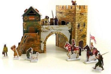 Фото Сборная модель из картона Старые ворота