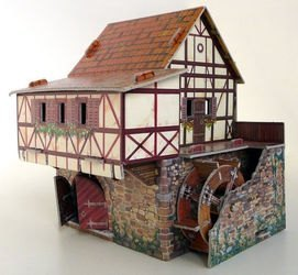 Фото Сборная модель из картона Водяная мельница