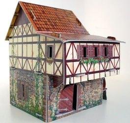 Сборная модель из картона Водяная мельница фотография 2