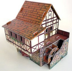Сборная модель из картона Водяная мельница фотография 3