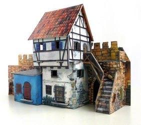 Фото Сборная модель из картона Дом у стены
