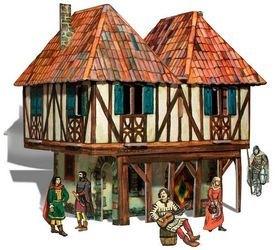 Фото Сборная модель из картона Дом Бюргера