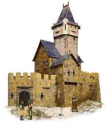 Фото Сборная модель из картона Охотничий замок (294)