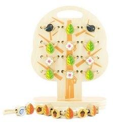 Фото Шнуровка деревянная Дерево Времена года (Д104)