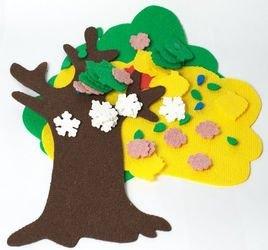 """Фото Игры из ковролина """"Маленькое дерево"""""""