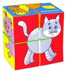 Фото Мягкие кубики Мякиши Собери картинку Домашние животные (4 шт.)