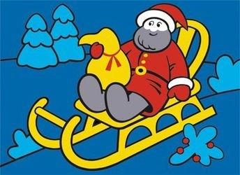 "Фото Фреска (песчаная картинка) ""Дед Мороз"""
