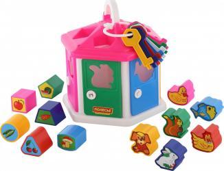 Фото Развивающая игрушка сортер Логический домик с ключиками (в коробке)