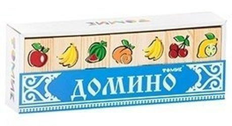 Фото Домино детское деревянное Фрукты-ягоды