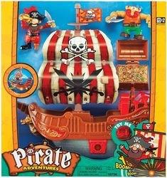 """Фото Игровой набор """"Приключение пиратов. Битва за остров"""" (корабль с красным парусом)(10754)"""
