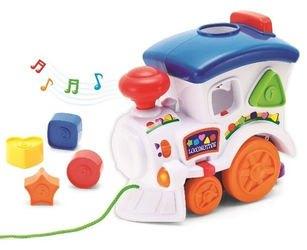 Фото Развивающая игрушка Веселый паровозик-сортер (свет, звук) (31537)