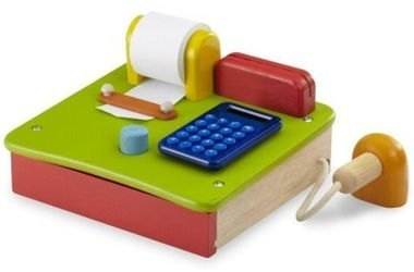 Фото Игрушечная Касса деревянная с бумажной лентой и калькулятором (ВВ-4550)