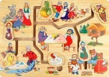 Фото Деревянная развивающая игрушка Лабиринт Мир сказки 1 (Р59)
