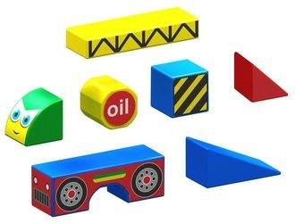 Магнитныйконструкториз кубиков Стройка фотография 2