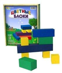 """Фото Настольная игра """"Цветные блоки"""" (фанерная коробка)"""