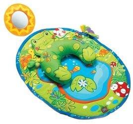 Фото Развивающий коврик Лягушка с подушкой (массажный)