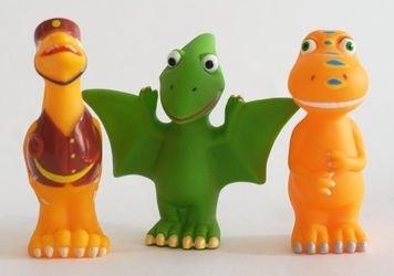 """Фото Набор для купания """"Поезд Динозавров"""" из 3-х игрушек (169R-PVC)"""