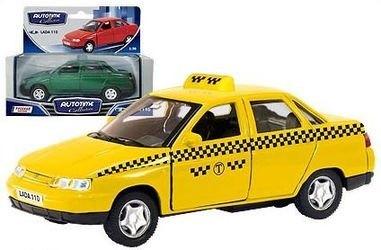 Фото Масштабная модель Лада 2110 Такси 1:36 (7864)