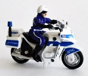 Фото Масштабная модельМотоцикл ДПС с фигуркой (СТ-1247)