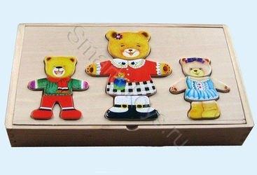 """Фото Набор с одеждой """"3 медведя"""""""