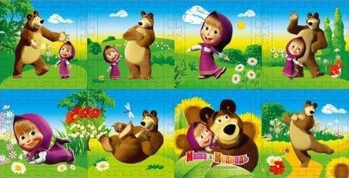 "Фото Детский коврик-пазл ""Маша и Медведь"" 8 деталей (FS-MM)"