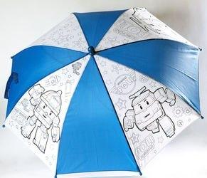 """Фото Детский зонтик для раскрашивания """"Робокар Поли и Рой"""" (01340)"""