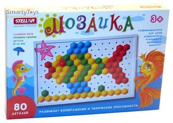 Фото Мозаика для детей крупная 20 мм, 80 деталей (01011)