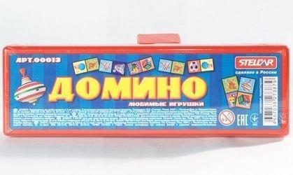 Фото Домино Любимые игрушки в футляре (00013)
