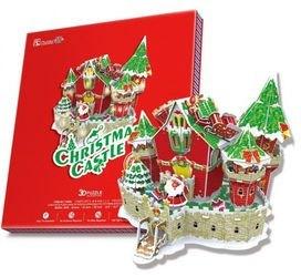 Фото Сборная модель из картона 3D пазл Сказочный рождественский замок (с подсветкой )