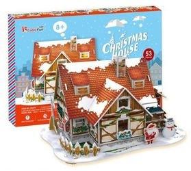 Фото 3D пазл Рождественский домик 1 с подсветкой (P647h)