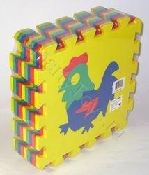 Мягкий детский коврик-пазл с силуэтами 28*28 (9 шт.) фотография 2