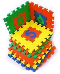 Мягкий детский коврик-пазл с цифрами 28*28 (10 шт.) фотография 1