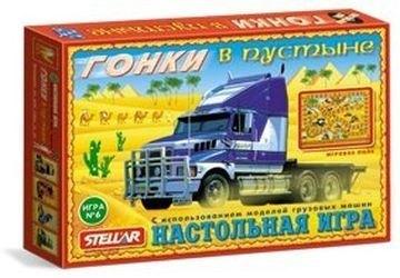 Фото Настольная игра с кубиком и фишками Гонки в пустыне