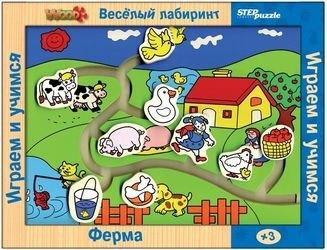 """Фото Игра из дерева """"Веселый лабиринт. Ферма"""" (89104)"""