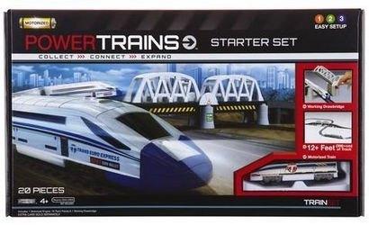 Фото Детская Железная дорога PowerTrans Премиум набор с мостом и локомотивом (41384)
