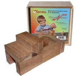 Фото Игры Никитина. Кирпичики в фанерной коробке (дерево, Световид)