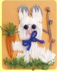 Гобелен (плетёная картина) Заяц фотография 3