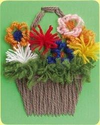 Гобелен (плетёная картина) Цветы фотография 3