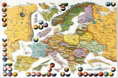Фото Магнитная карта-пазл Европа (ЕВР20МАГ)