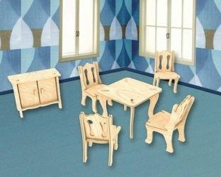 Фото Сборная деревянная модель Гостиная (П011)